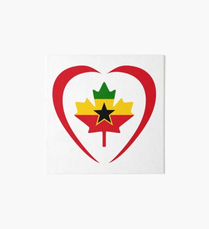 Ghanaian Canadian Multinational Patriot Flag Series (Heart) Art Board Print