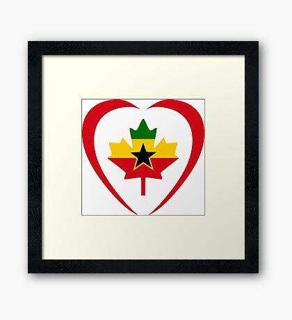 Ghanaian Canadian Multinational Patriot Flag Series (Heart) Framed Print
