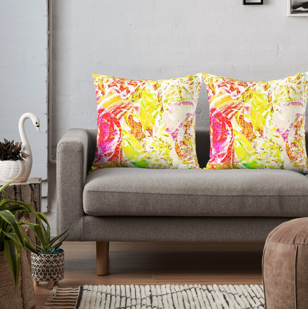Floral Abstract - Vibrancy of Spring Throw Pillow