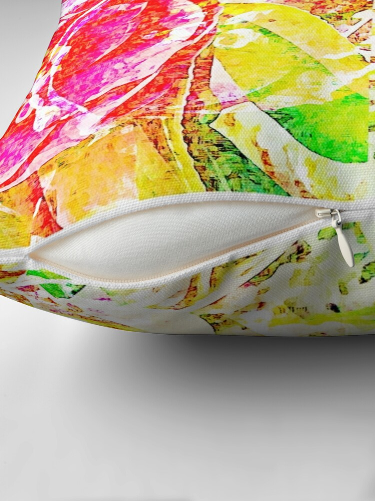 Alternate view of Floral Abstract - Vibrancy of Spring Throw Pillow