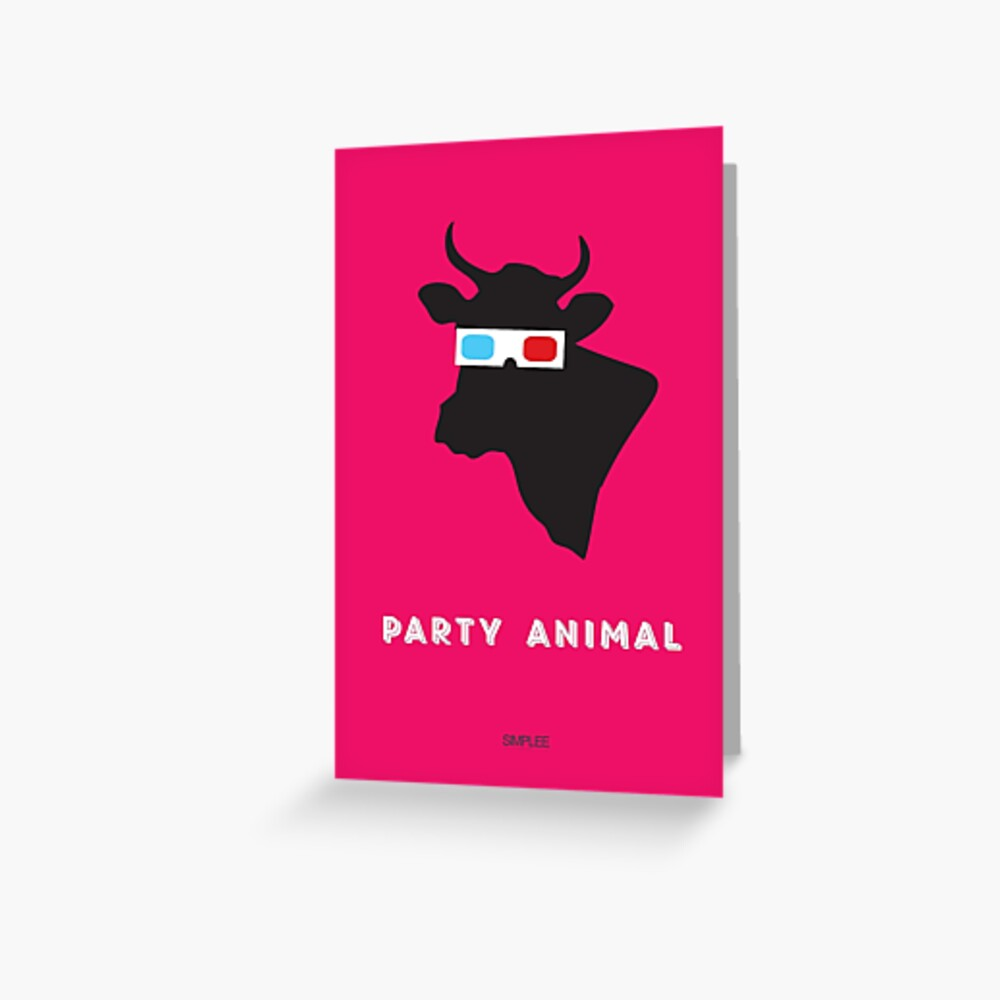 Simplee Cards: Party Animal 2 of 3 Greeting Card