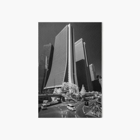 Downtown Tokyo Skyscrapers in Infrared Art Board Print