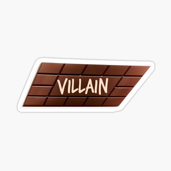 Bösewicht-Schokolade verdreht Box Sticker