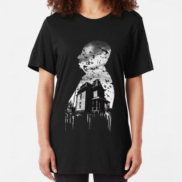 Alfred Hitchcock Collage Slim Fit T-Shirt