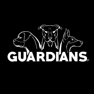 Dog Trio - GUARDIANS (white outline version) by DarkestBuddha