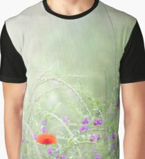 Rain on Poppies and Sweet Peas Graphic T-Shirt
