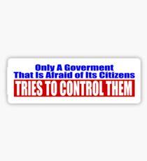 Government Fear Sticker