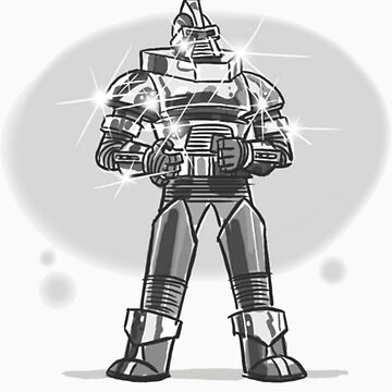 Robot from the future with sparkles by Bradjames