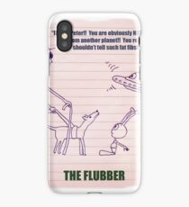 The Alien And The Blind Man (Cartoon) iPhone Case/Skin