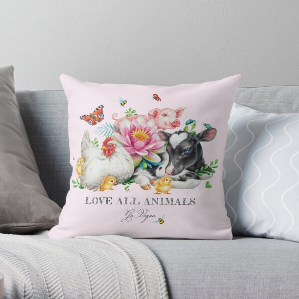 Vegan summer by Maria Tiqwah Throw Pillow