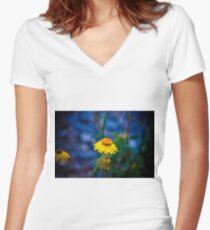 Flower.... Women's Fitted V-Neck T-Shirt