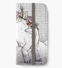 Blühender Stegosaurus iPhone Flip-Case/Hülle/Klebefolie