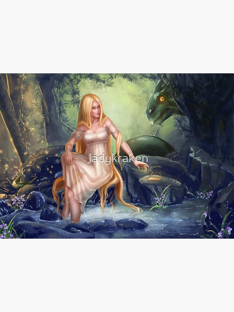 Xana y Cuelebre Asturian Mythology by ladykraken