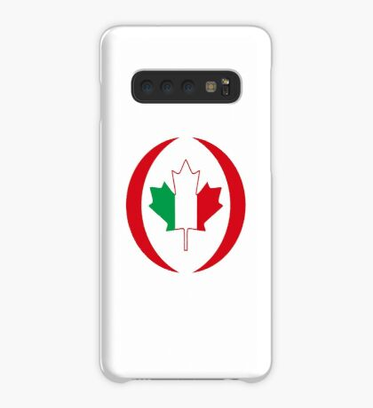 Italian Canadian Multinational Patriot Flag Series Case/Skin for Samsung Galaxy