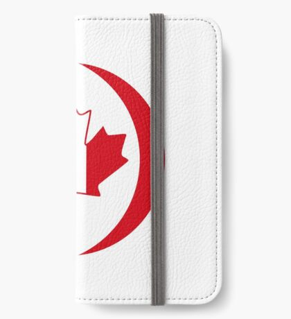 Italian Canadian Multinational Patriot Flag Series iPhone Wallet