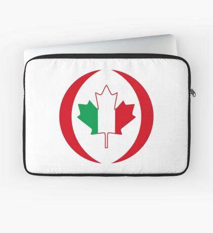 Italian Canadian Multinational Patriot Flag Series Laptop Sleeve