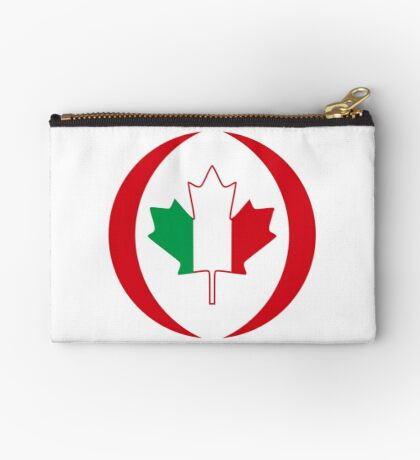 Italian Canadian Multinational Patriot Flag Series Zipper Pouch