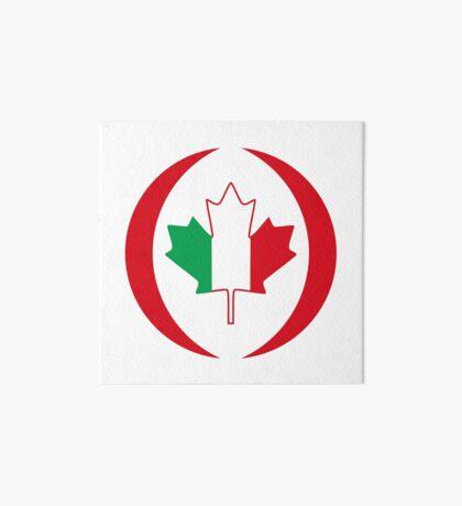Italian Canadian Multinational Patriot Flag Series Art Board Print