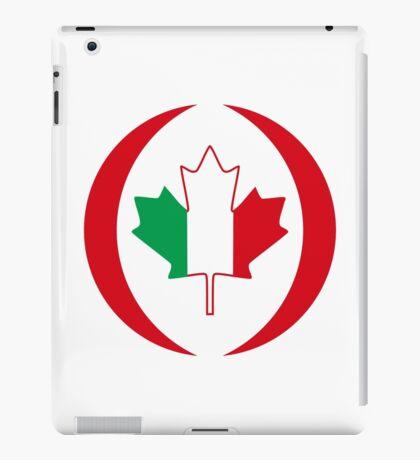Italian Canadian Multinational Patriot Flag Series iPad Case/Skin