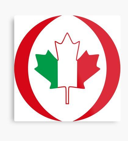 Italian Canadian Multinational Patriot Flag Series Metal Print