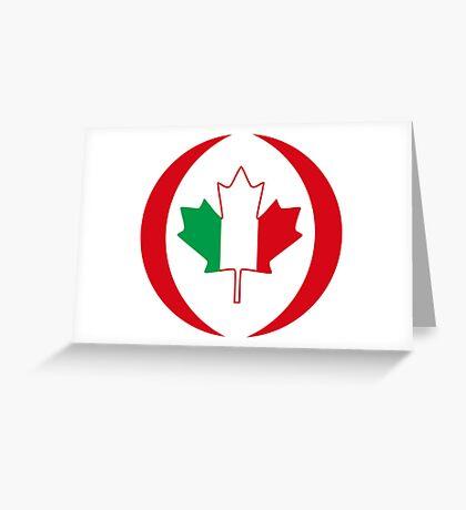 Italian Canadian Multinational Patriot Flag Series Greeting Card