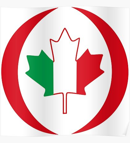 Italian Canadian Multinational Patriot Flag Series Poster