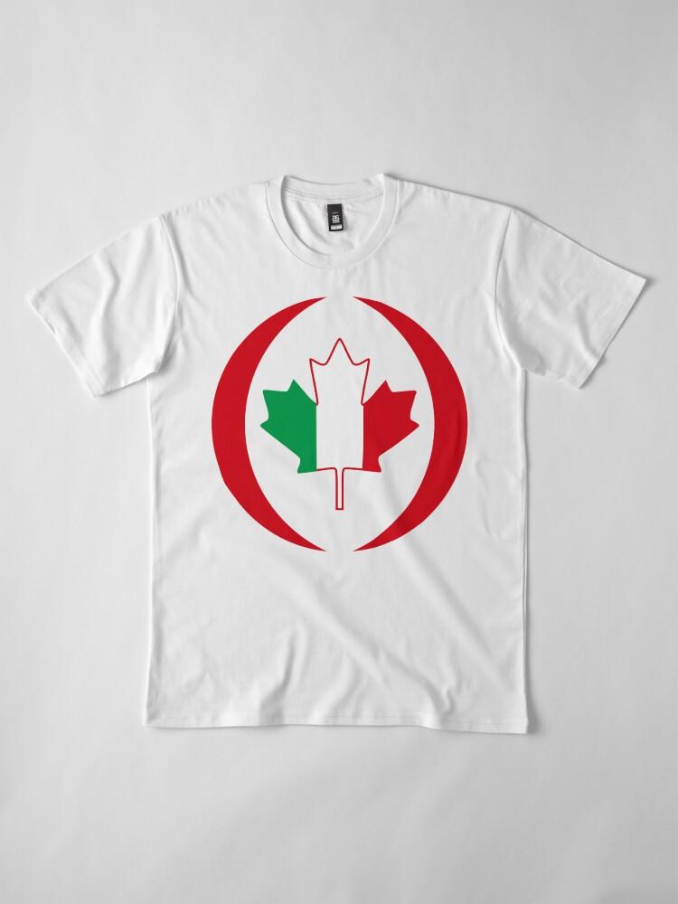 Alternate view of Italian Canadian Multinational Patriot Flag Series Premium T-Shirt