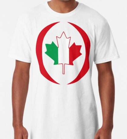 Italian Canadian Multinational Patriot Flag Series Long T-Shirt
