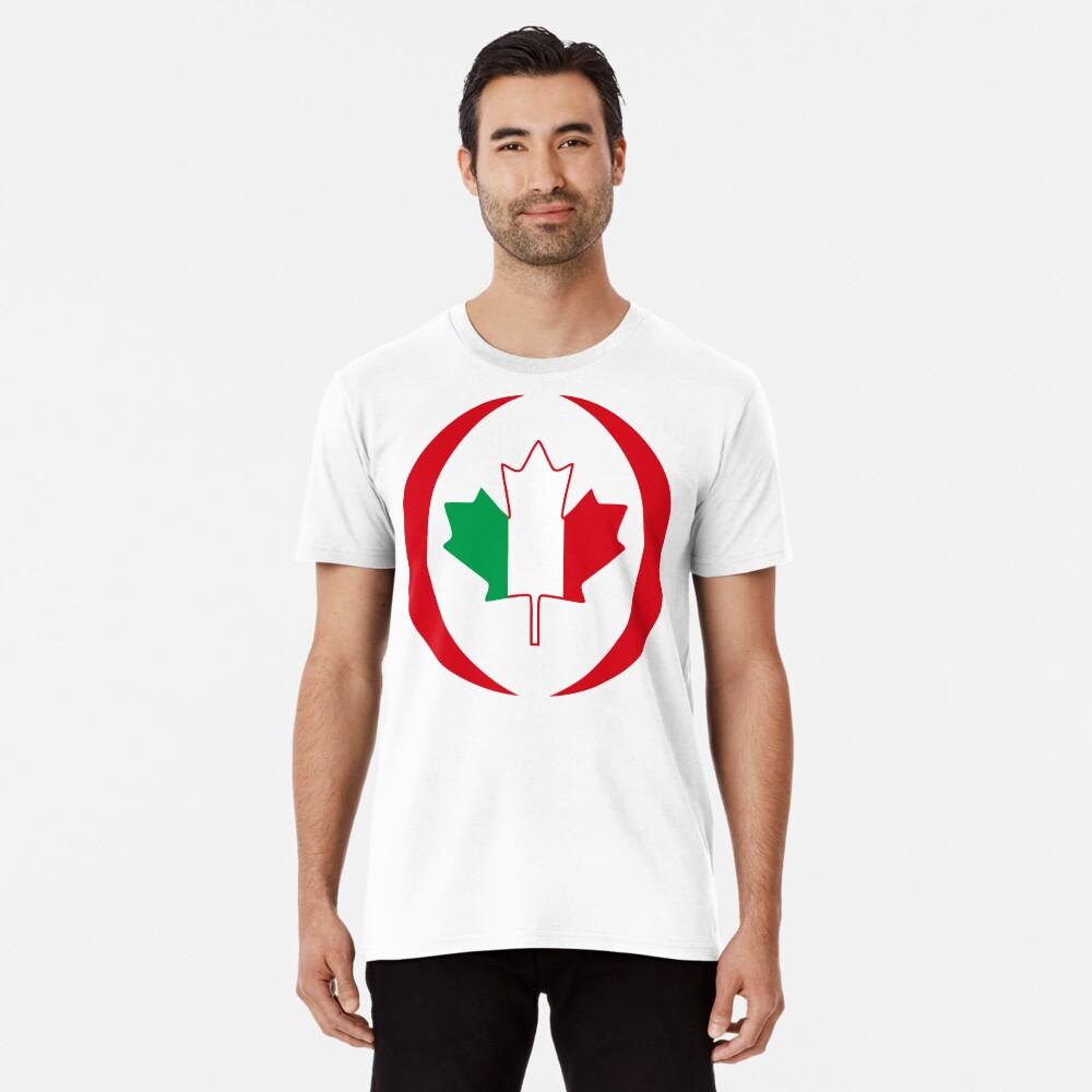 Italian Canadian Multinational Patriot Flag Series Premium T-Shirt