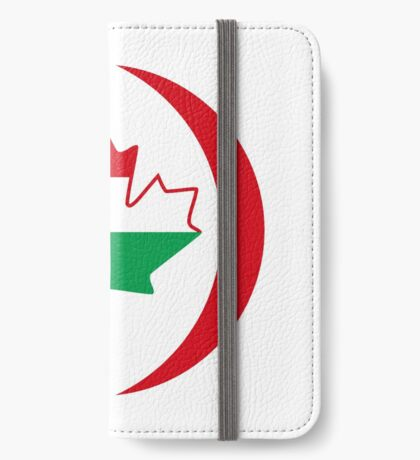 Hungarian Canadian Multinational Patriot Flag Series iPhone Wallet