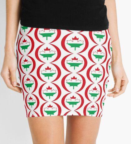 Hungarian Canadian Multinational Patriot Flag Series Mini Skirt