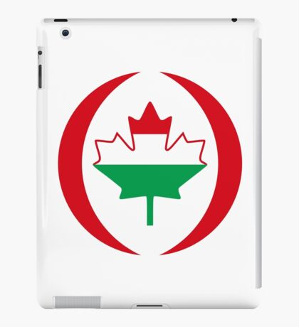 Hungarian Canadian Multinational Patriot Flag Series iPad Case/Skin