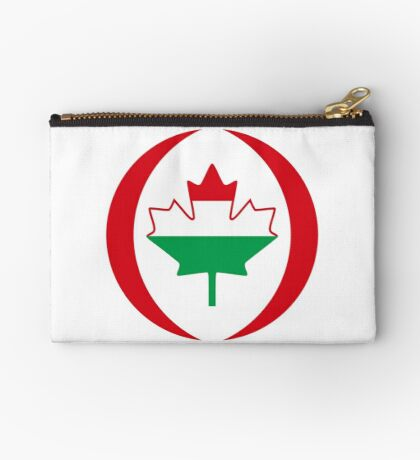 Hungarian Canadian Multinational Patriot Flag Series Zipper Pouch