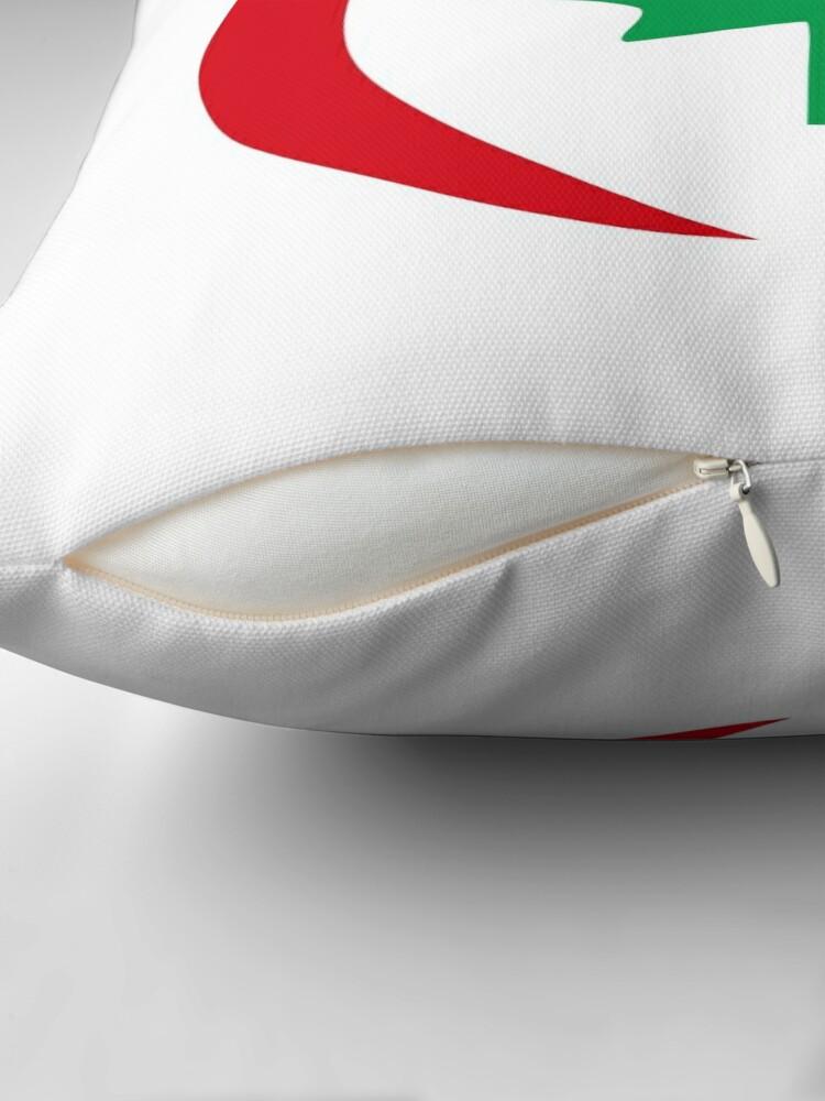 Alternate view of Hungarian Canadian Multinational Patriot Flag Series Throw Pillow