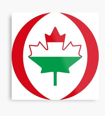 Hungarian Canadian Multinational Patriot Flag Series Metal Print