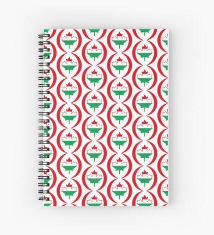Hungarian Canadian Multinational Patriot Flag Series Spiral Notebook