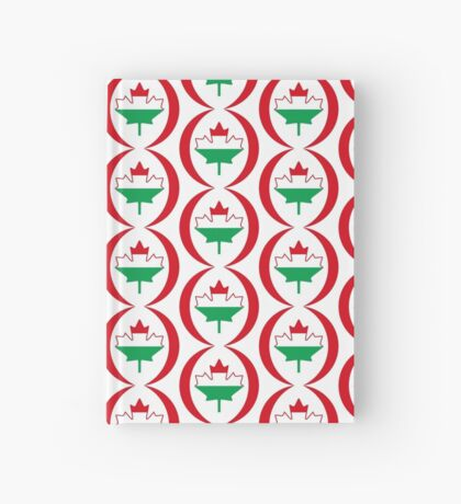 Hungarian Canadian Multinational Patriot Flag Series Hardcover Journal