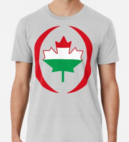 Hungarian Canadian Multinational Patriot Flag Series Premium T-Shirt