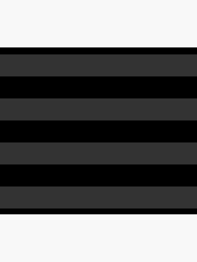 Big Stripes Black Dark Gray by missstriped