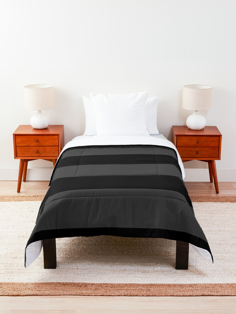 Alternate view of Big Stripes Black Dark Gray Comforter