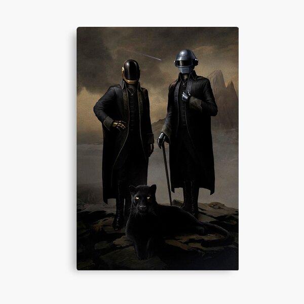 Daft Punk black panther Canvas Print