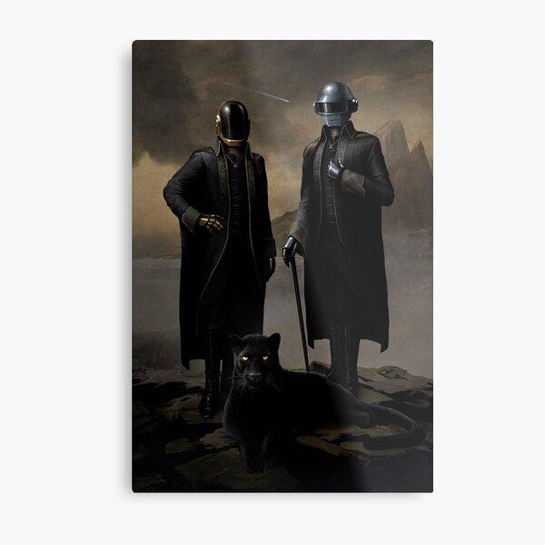 Daft Punk black panther Metal Print