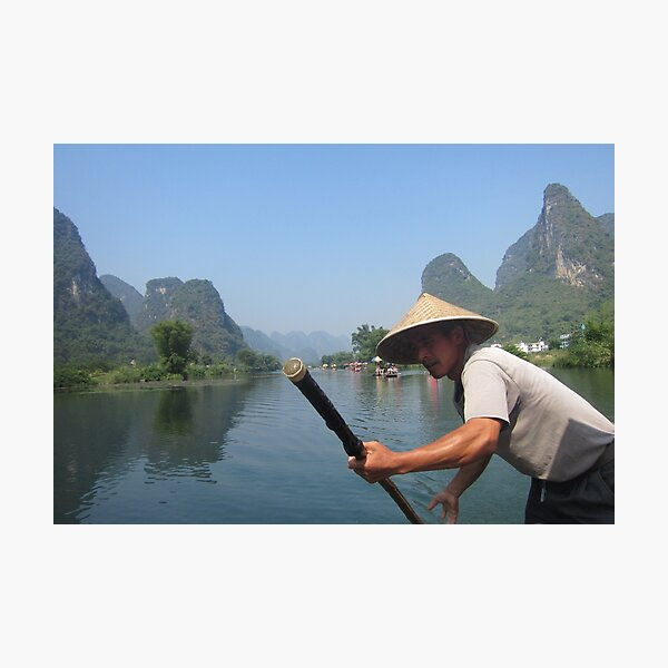 Cruising the mountains of Yangshuo  Photographic Print