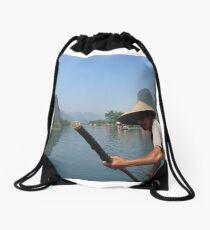 Cruising the mountains of Yangshuo  Drawstring Bag