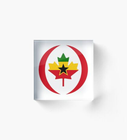 Ghanaian Canadian Multinational Patriot Flag Series Acrylic Block