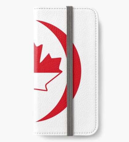Indonesian Canadian Multinational Patriot Flag Series iPhone Wallet