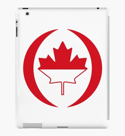 Indonesian Canadian Multinational Patriot Flag Series iPad Case/Skin
