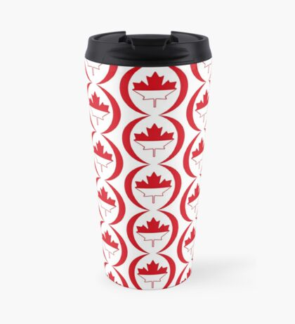 Indonesian Canadian Multinational Patriot Flag Series Travel Mug