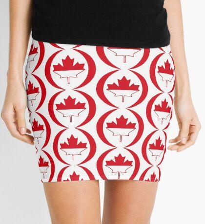 Indonesian Canadian Multinational Patriot Flag Series Mini Skirt