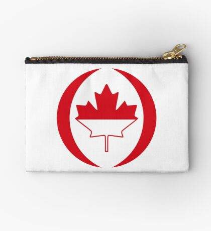 Indonesian Canadian Multinational Patriot Flag Series Zipper Pouch